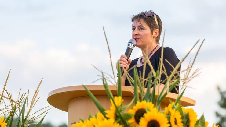 Regierungsrätin Franziska Roth hat am Montagabend in Holziken eine Rede gehalten.