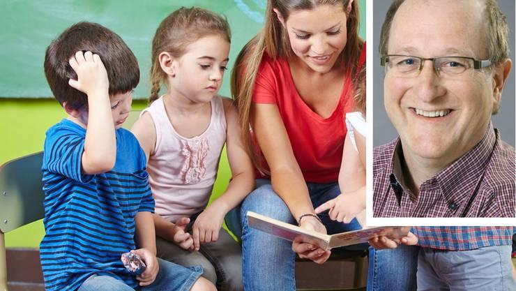 Es geht um die Sprache der Kindergärtnerin, die Kinder reden sowieso, wie sie wollen und können