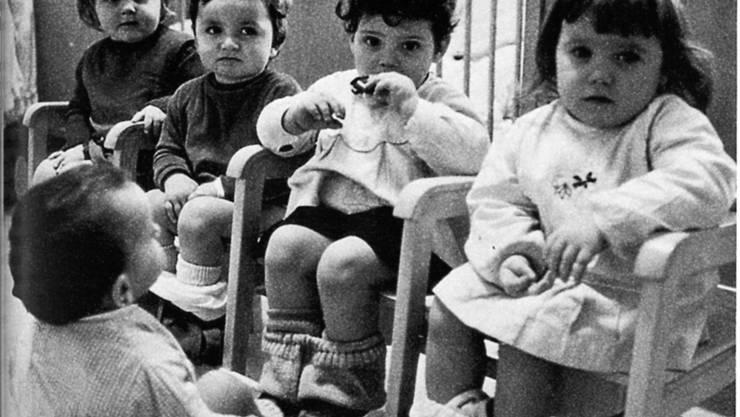 Heute undenkbar: Die sogenannte Häfelirunde, wo die Kinder früher in der Gruppe der Windel entwöhnt wurden.