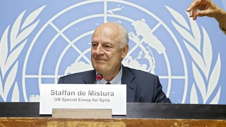 Der UNO-Sondergesandte Staffan de Mistura sagte, die seit dem Wochenende geltende Waffenruhe sei ein wichtiger Schritt Richtung Deeskalation des Konflikts.