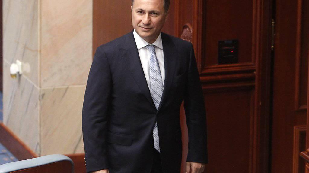 Nach der überraschenden Flucht des mazedonischen Ex-Regierungschefs Nikola Gruevski nach Ungarn haben die Behörden in Skopje zwei Mitglieder seiner damaligen Führung festgenommen, die offenbar ebenfalls ihre Flucht ins Ausland geplant haben sollen. (Archiv)
