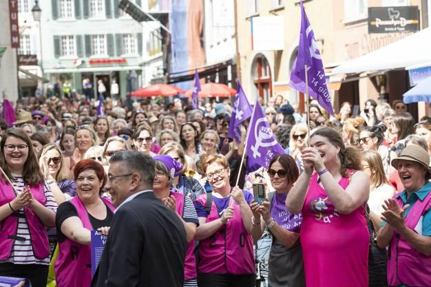 Frauenstreik in Baden.