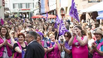 Frauenstreik in Baden