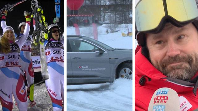 Weitere Medaille für die Schweiz / Drift-Training / Werbung für Åre
