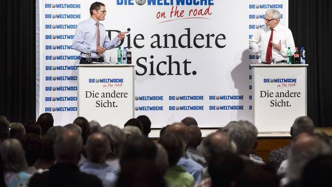 Roger Köppel versus Kurt Fluri im Landhaus Solothurn