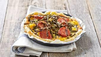 Rezept: Quiche mit Dörrbohnen und getrockneten Tomaten