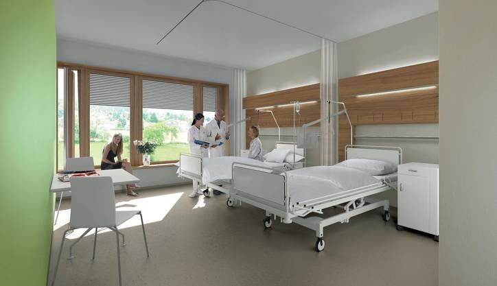 Insgesamt 200 Betten soll es im neuen Spital geben