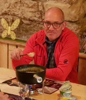 Manfred Kunz auf der Vereinsreise nach Willisau 2017.