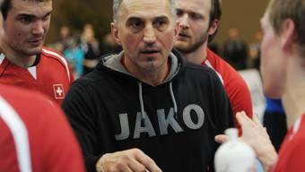 Goran Perkovac Anfang Januar 2013 als Trainer der Schweizer Nationalmannschaft