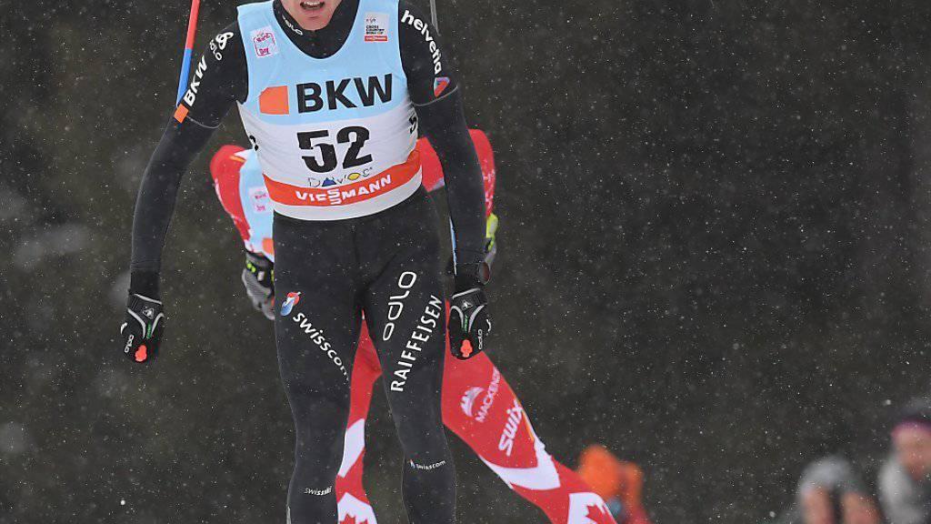 Beste Saisonleistung: Dario Cologna lief in Davos auf den 5. Platz