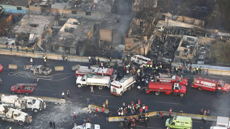Die Explosion richtete grossen Schaden an