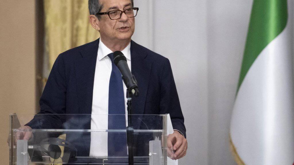 Giovanni Tria will in Brüssel die Schuldenpolitik Italiens erklären