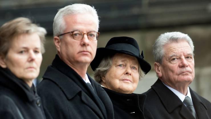 Fritz von Weizsäcker (zweite Person von links). Bild: Keystone