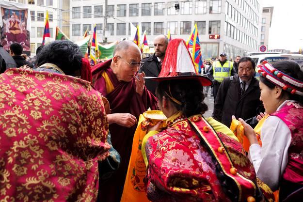 Der Dalai Lama bleibt bis Sonntag in Basel.