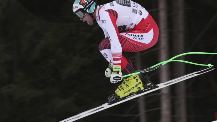 Vincent Kriechmayr unterstreicht im zweiten Training von Garmisch seine Ambitionen auf den Sieg
