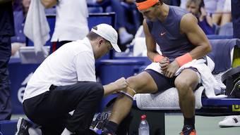 Rafael Nadal wurde im Halbfinal am US Open in New York von einer Knieverletzung gestoppt