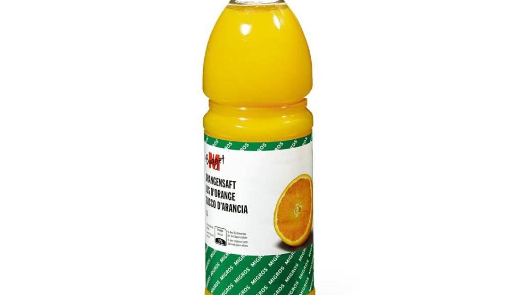 M-Budget-Orangensaft mit Metallstücken