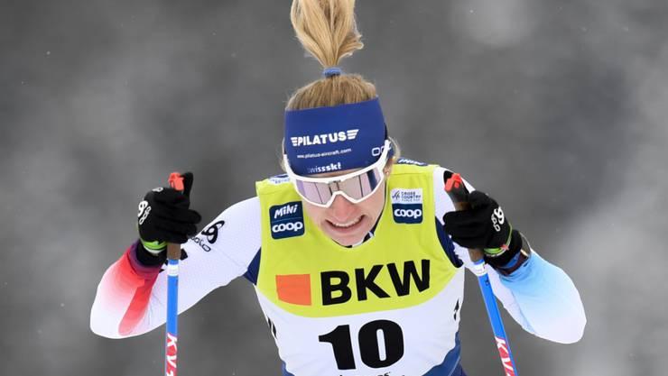 Um vier Hundertstel am Finaleinzug gescheitert: Nadine Fähndrich gab im Weltcup-Sprint in Davos alles