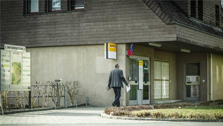 Die Poststelle an der Hauptstrasse in Küttigen wird im Herbst aufgegeben. Die Poststelle in Rombach bleibt bestehen.
