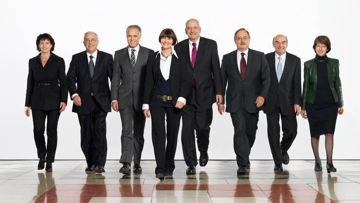 Letztmals mit Christoph Blocher: Das Bundesratsfoto 2007, mit dem SVP-Justizminister (zweiter von links).