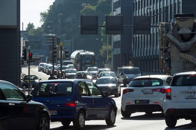 Die Agglomerationen Baden (im Bild) und Brugg sollen nach wie vor vom Verkehr entlastet werden.
