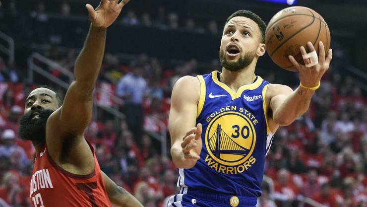 NBA-Superstar Stephen Curry (am Ball) will 2020 bei Olympia in Tokio dabei sein