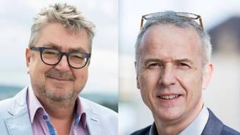 Roger Brunner (links) und Bernhard Schmidt (rechts). Brunner wurde abgewählt und Schmidt verpasste den Einzug in den Stadtrat knapp.