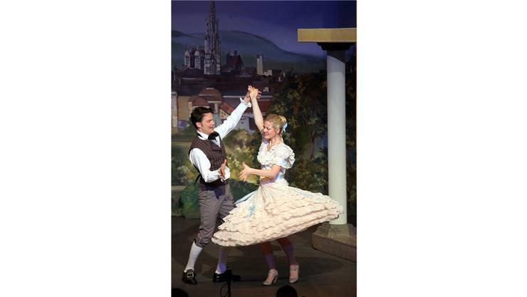 Fröhlich gehts zu auf der Classionata-Bühne: Hier bei «Wiener Blut». Hr. Aeschbacher