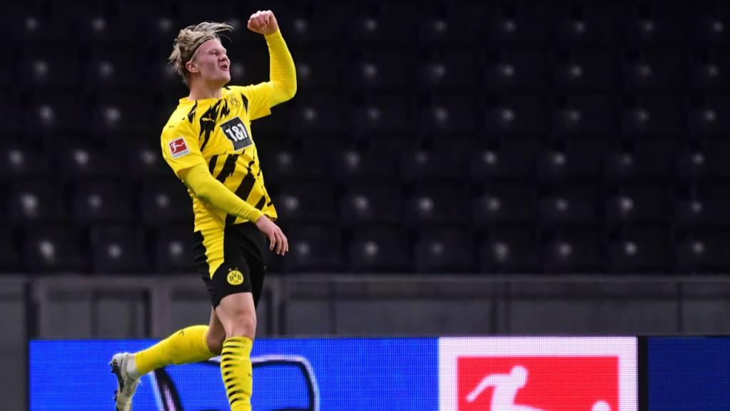 Erling Haaland jubelt und jubelt: In 22 Bundesligaspielen schoss er 23 Tore.