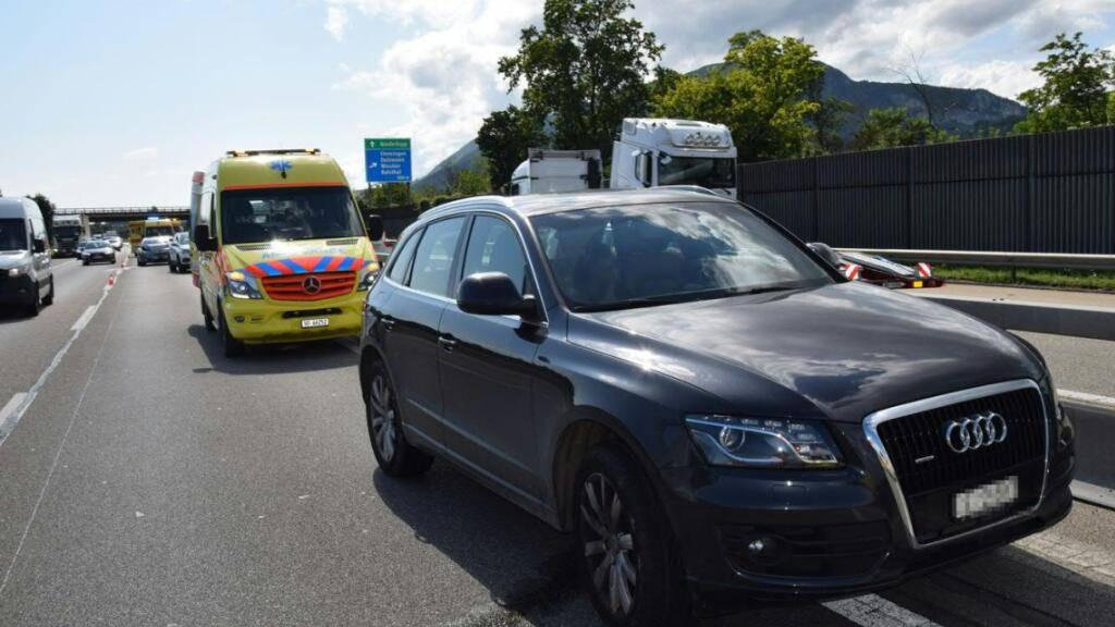 Drei Verletzte bei Kollision auf A1 bei Oensingen