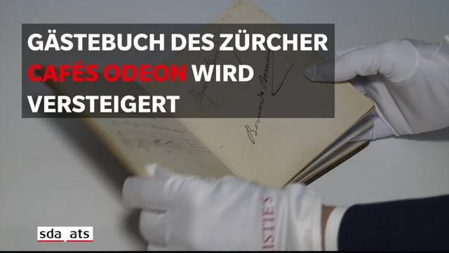 """Illusteres Gästebuch des Zürcher Café """"Odeon"""" kommt unter den Hammer"""