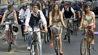 Ein einig Volk von Velofahrern. Die Velolobby will die Fahrradförderung in der Bundesverfassung verankern.