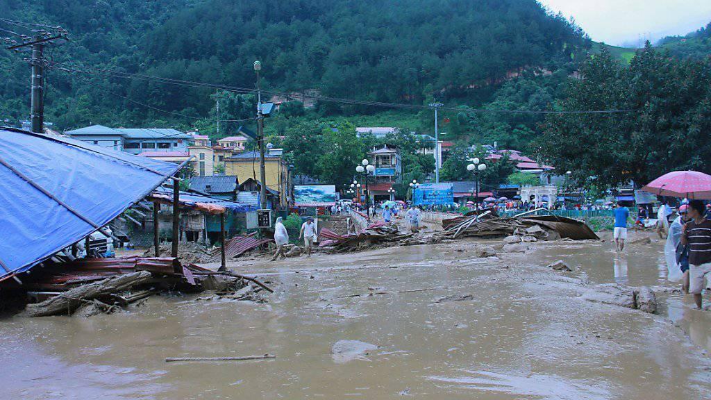 In Vietnam sind bei Überschwemmungen in den vergangenen Tagen mindestens 26 Menschen ums Leben gekommen. (Bild vom 3. August)