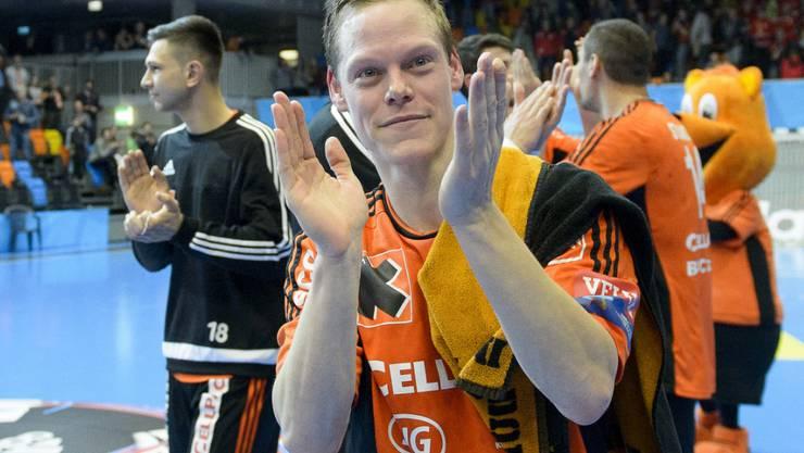 Manuel Liniger führte die Kadetten mit neun Toren zum Sieg über Skopje
