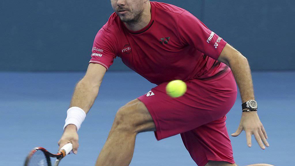 Stan Wawrinka verpasste bei seiner ersten Teilnahme am Turnier in Brisbane den Einzug in den Final