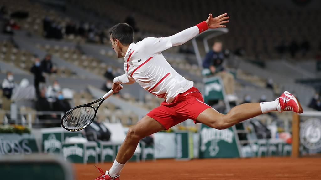 Novak Djokovic gerät gegen den Lucky Loser Daniel Elahi Galan nicht ins Wanken