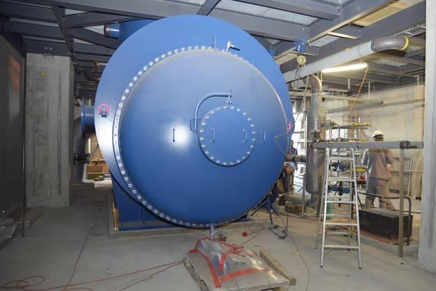 Einblick in den Keller unterhalb der Turbine