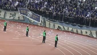Bereits im Stadion Letzigrund spitzte sich die Lage zu.