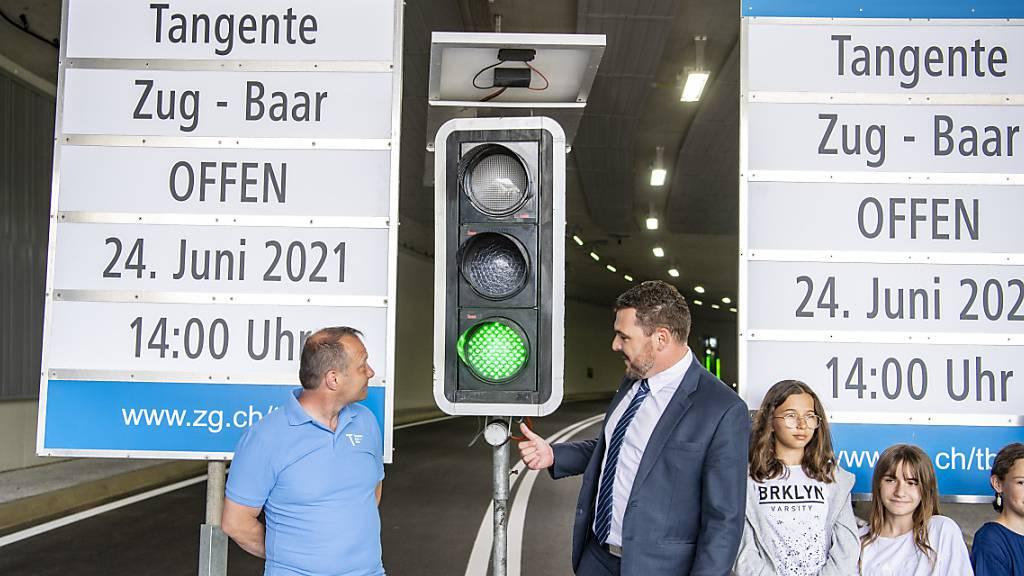 Der erste Strassentunnel im Kanton Zug ist eröffnet