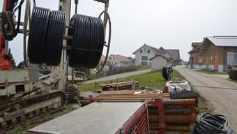 Eine unterstützte Grundwasserbohrung für die Nutzung der Erdwärme in Geltwil. Eddy Schambron