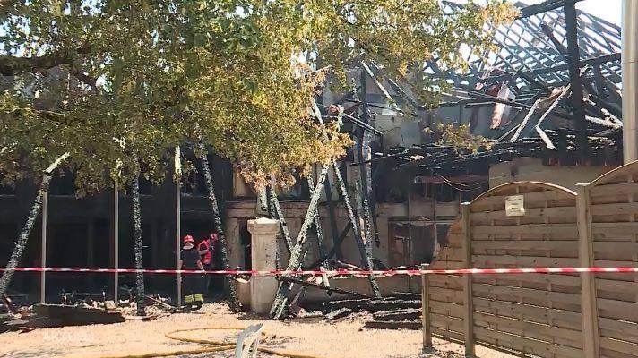 Das Bauernhaus in Aetingen am Tag nach dem Brand. Es brannte bis auf die Grundmauern nieder.