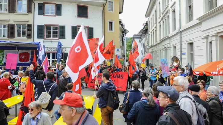 1. Mai-Kundgebung in Liestal auf dem Zeughausplatz in Liestal.