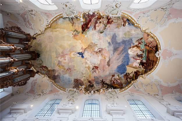 Die Fresken von 1681 erstrahlen in neuem Glanz.