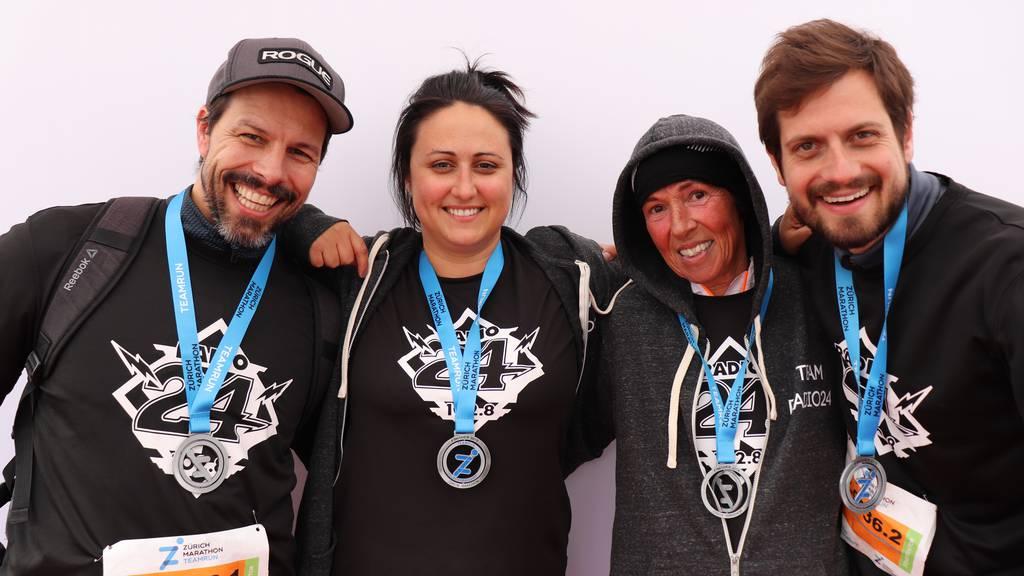 Unser Radio 24-Team am Zürich Marathon