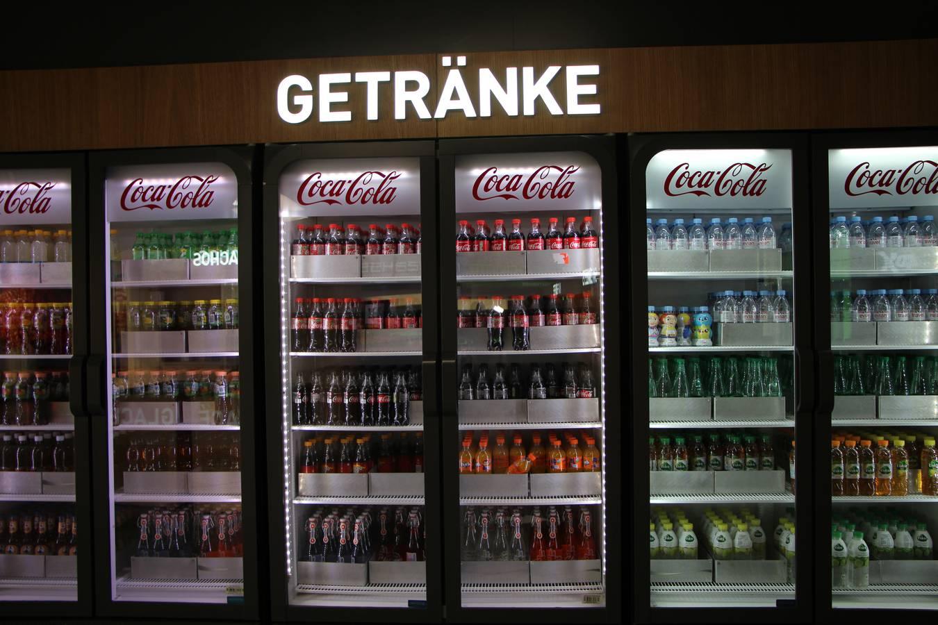 Selbstbedienung gibt es auch bei den Getränken. (© FM1Today)