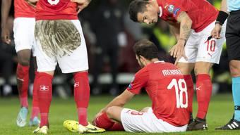 Admir Mehmedi, Mitte, wurde beim Spiel verletzt.