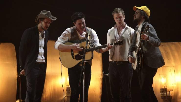 Die britische Band Mumford & Sons. (Archiv)