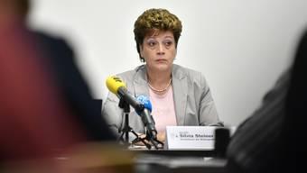 Hier im Bild: Die Zürcher Regierungsrätin Silvia Steiner an der Medienkonferenz Resultate der Aufarbeitung des Falls Jürg Jegge in Zürich am Donnerstag, 28. Juni 2018. (Archiv)
