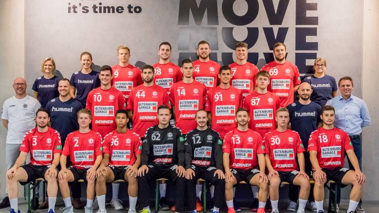 Die 1. Liga-Mannschaft der der HSG Siggenthal/Vom Stein Baden