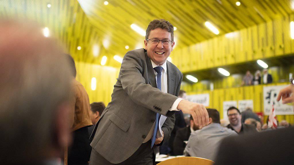 Wunden lecken nach der Schlappe in Zürich - und dann wieder lächeln: SVP-Präsident Albert Rösti an der Delegiertenversammlung im Thurgau.